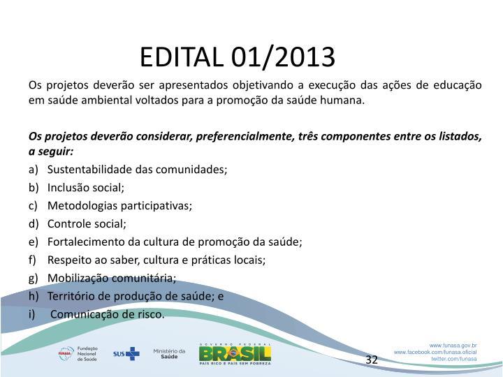 EDITAL 01/2013