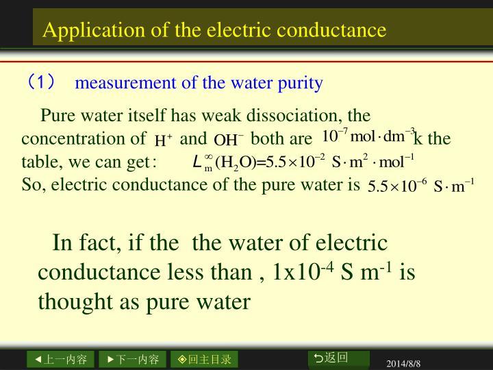 Pure water itself has weak dissociation,