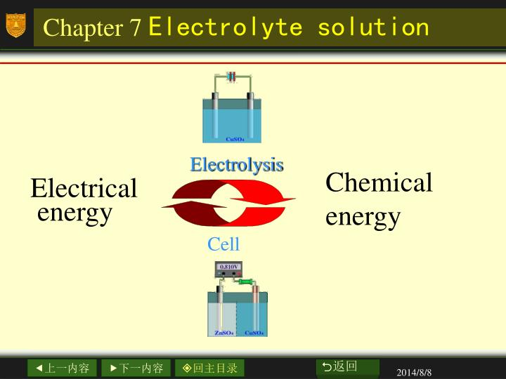 Chapter 7 electrolyte solution