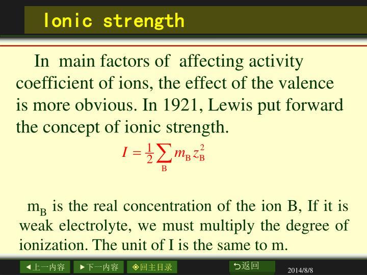 Ionic strength
