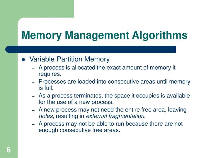 Memory Management Algorithms