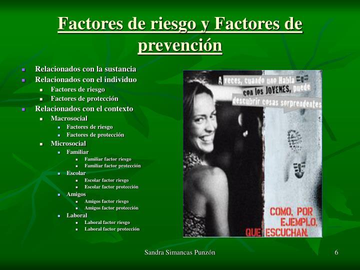 Factores de riesgo y Factores de prevención