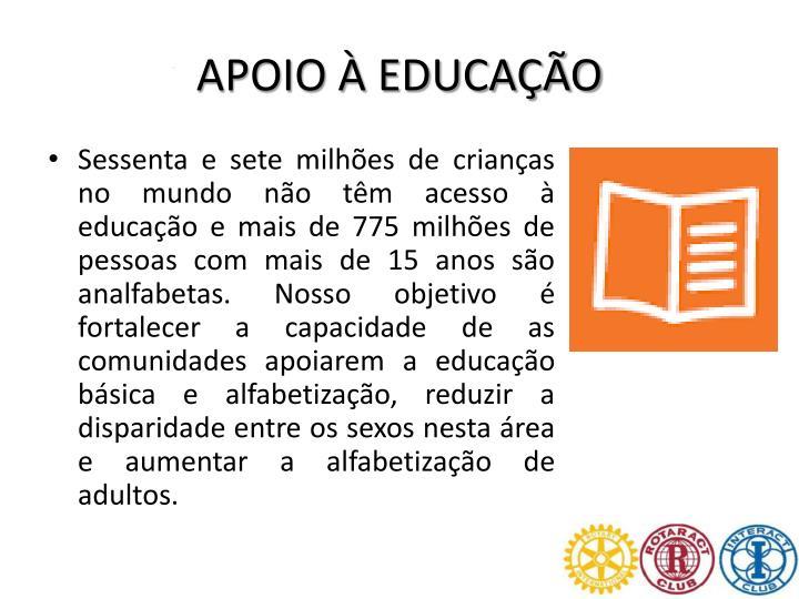 APOIO À EDUCAÇÃO