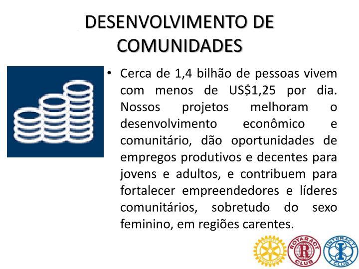 DESENVOLVIMENTO DE COMUNIDADES