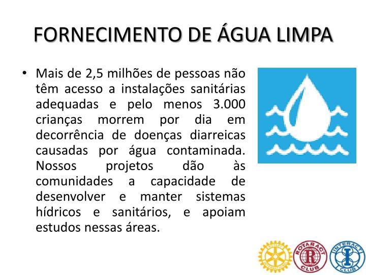 FORNECIMENTO DE ÁGUA LIMPA