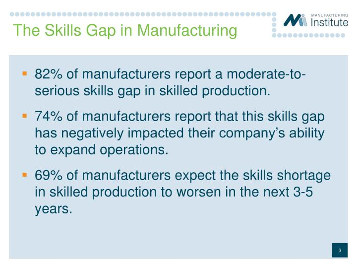 The skills gap in manufacturing
