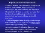 regulations governing overhaul1