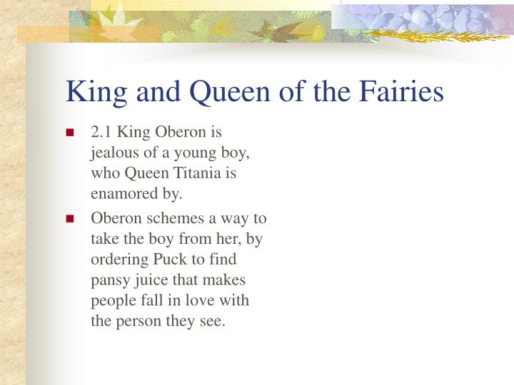 King and Queen of the Fairies