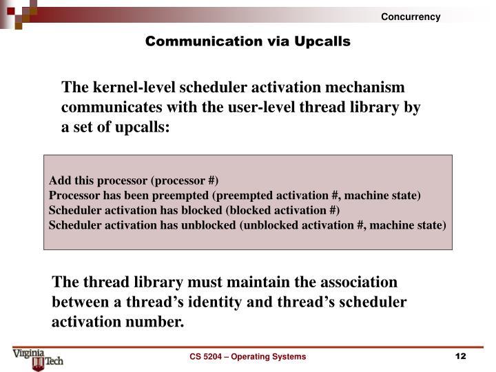 Communication via Upcalls