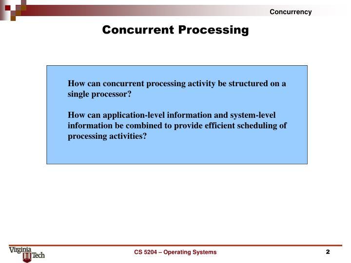 Concurrent Processing