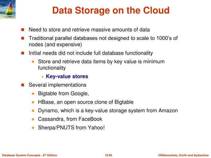 Data Storage on the Cloud