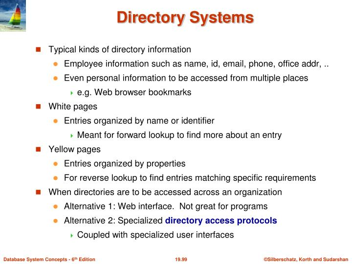 Directory Systems