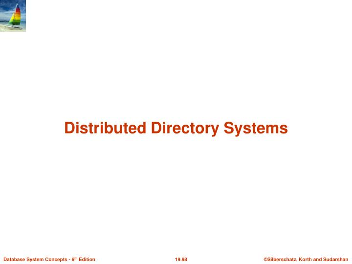 Distributed Directory Systems