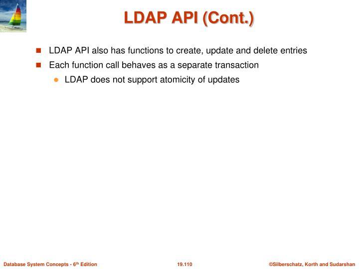 LDAP API (Cont.)