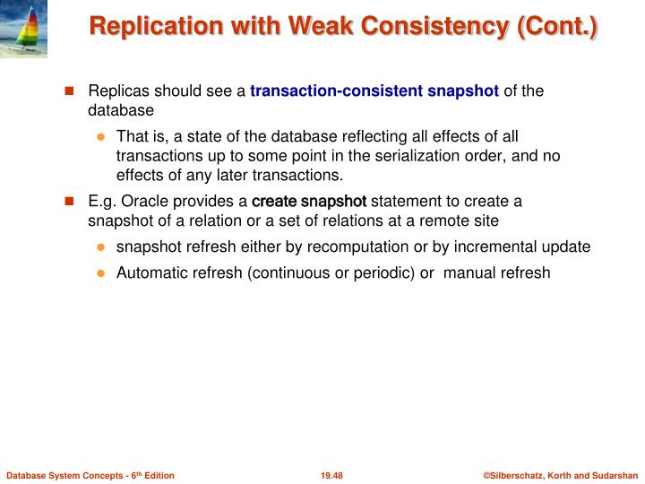 Replication with Weak Consistency (Cont.)