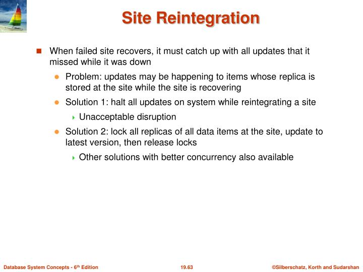 Site Reintegration