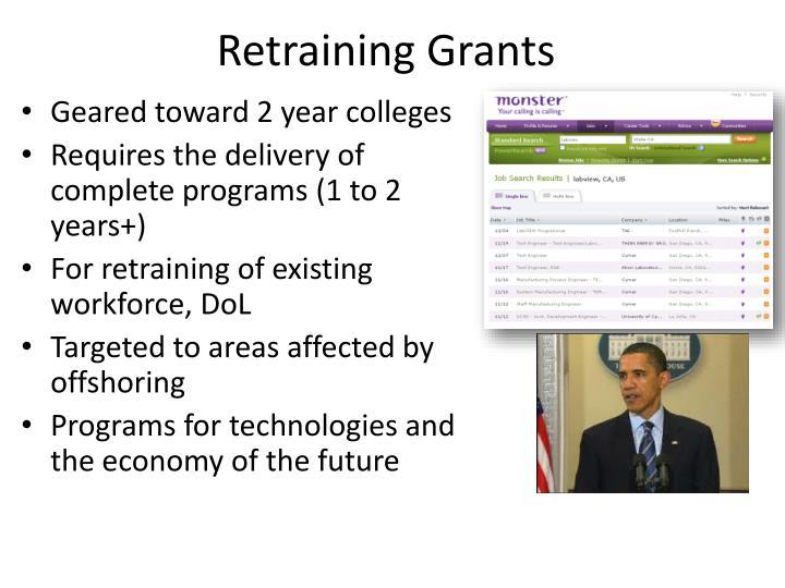 Retraining Grants