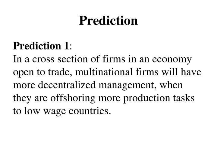Prediction