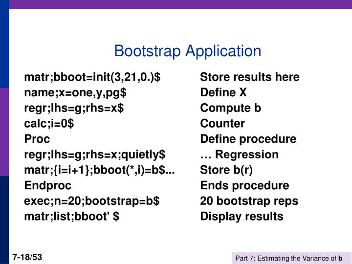 Bootstrap Application