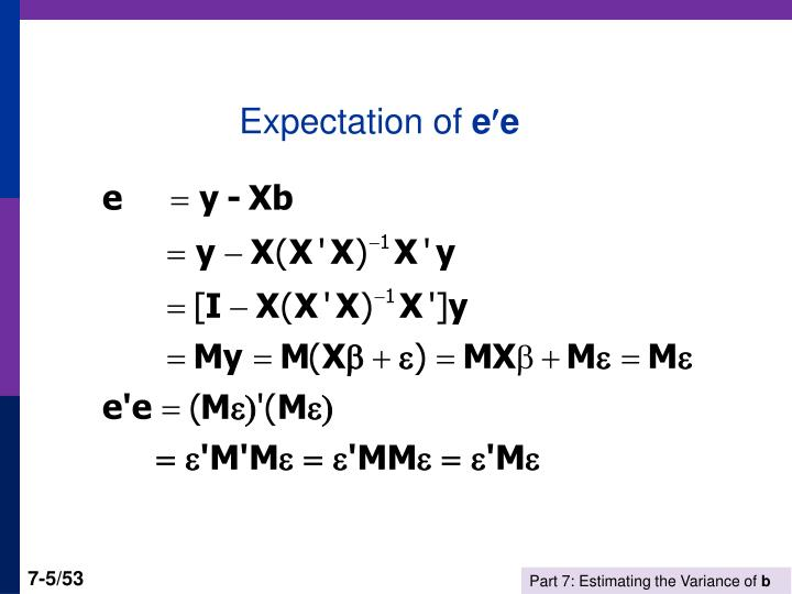 Expectation of