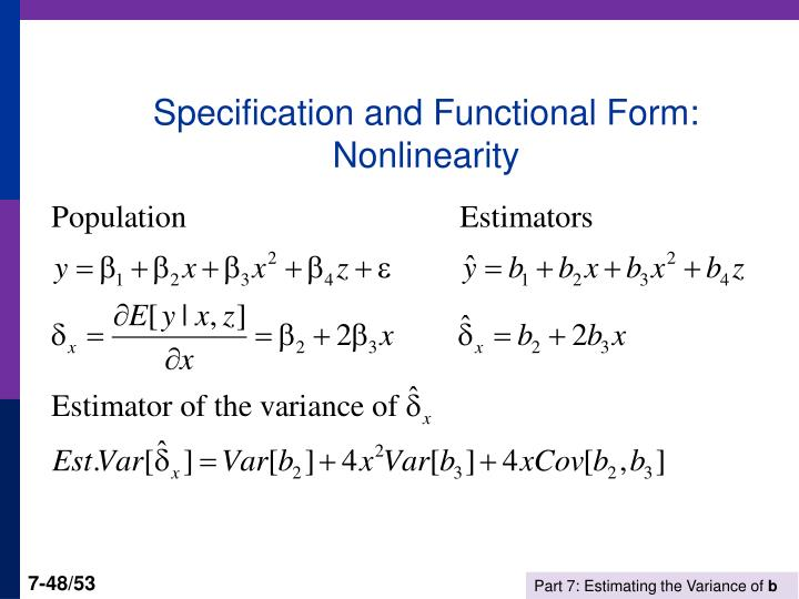 Specification and Functional Form: