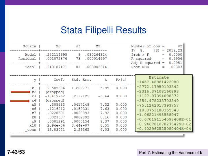 Stata Filipelli Results