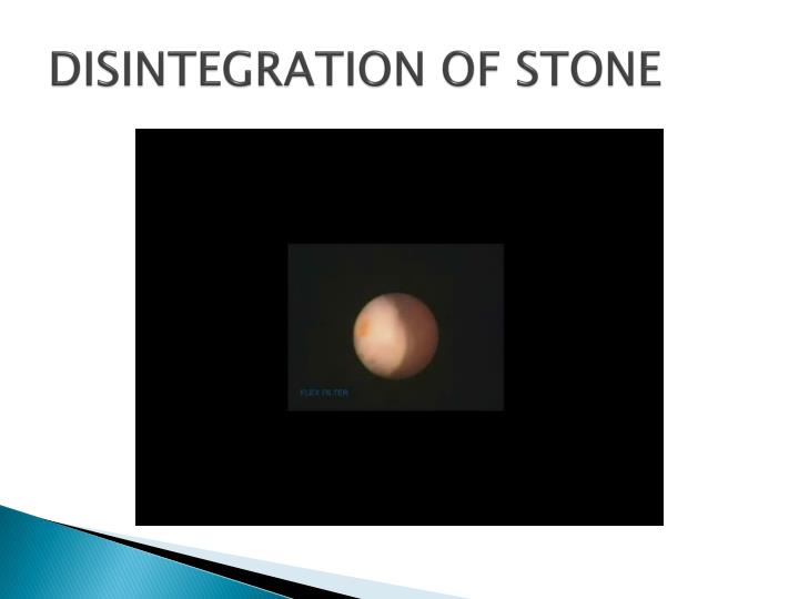 DISINTEGRATION OF STONE