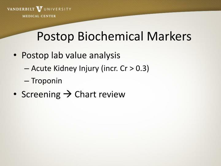 Postop Biochemical Markers
