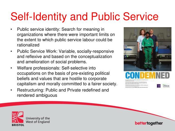 Self-Identity and Public Service