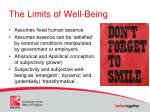 the limits of well being