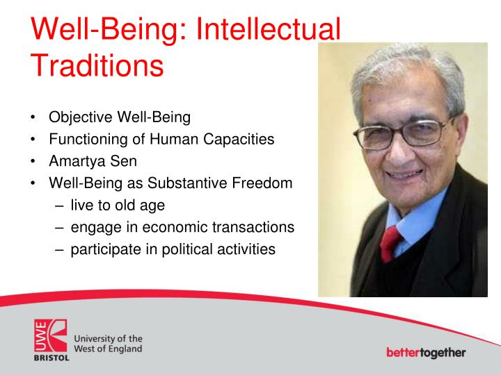 Well-Being: Intellectual Traditions