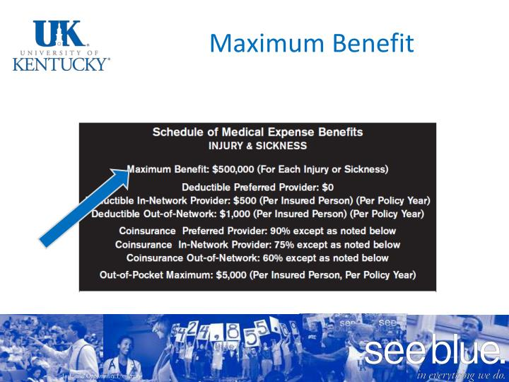 Maximum Benefit