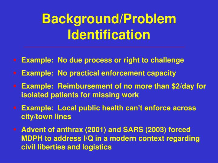 Background problem identification1