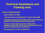 technical assistance and training cont1