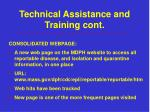 technical assistance and training cont6