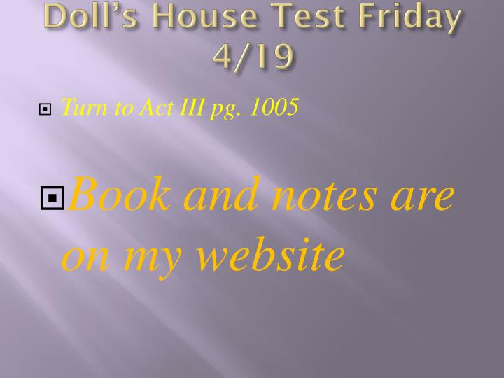 a doll s house the subordinate woman The use of symbolic language in ibsen's a doll's house: to be submissive and subordinate, and to act on the desires of man the the use of symbolic language in ibsen's a doll's house: a feministic perspective 627.