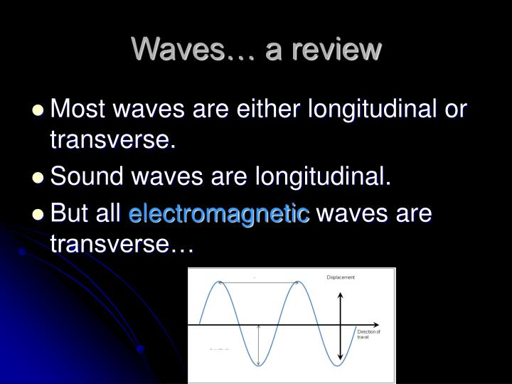 Waves… a review
