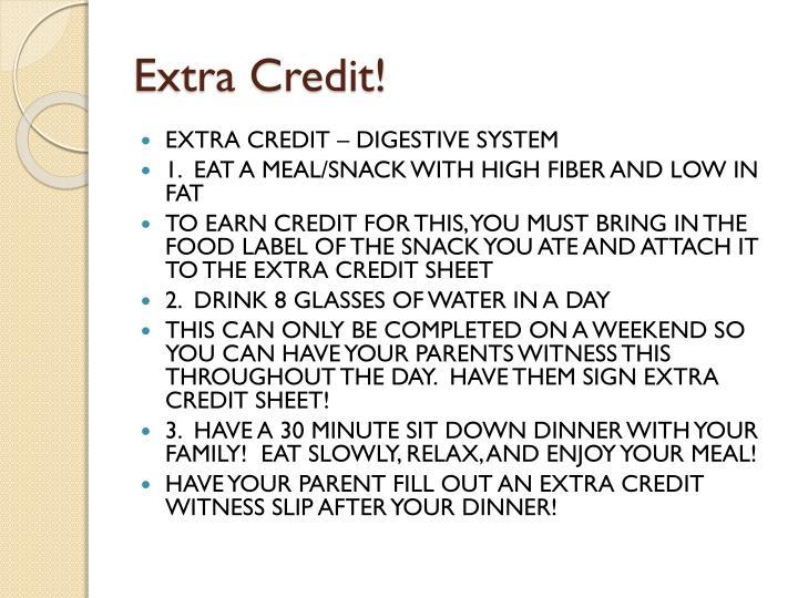 Extra Credit!