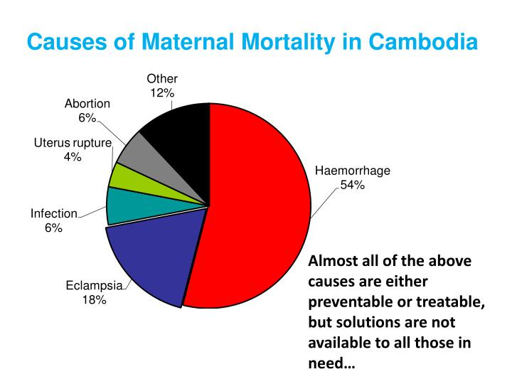 Causes of Maternal Mortality in Cambodia