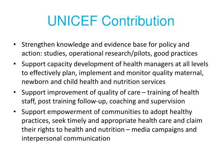 UNICEF Contribution