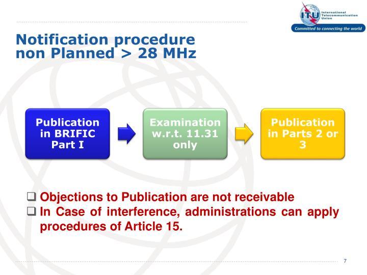 Notification procedure