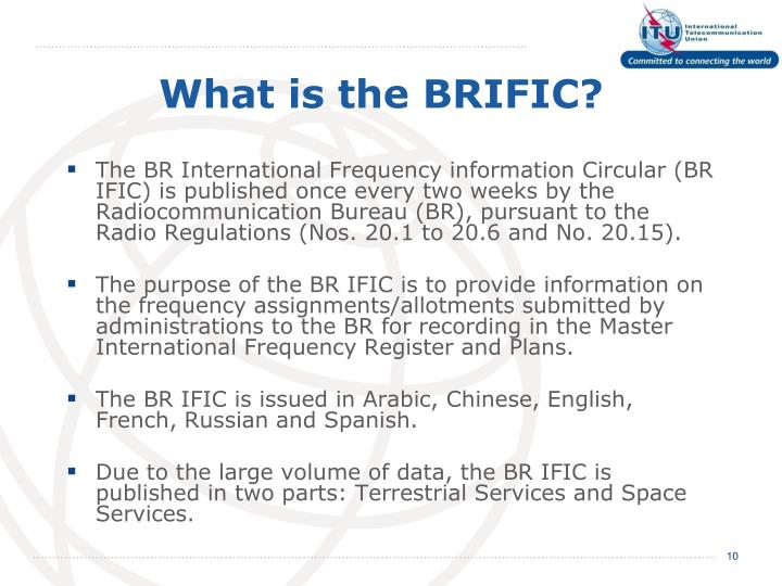 What is the BRIFIC?