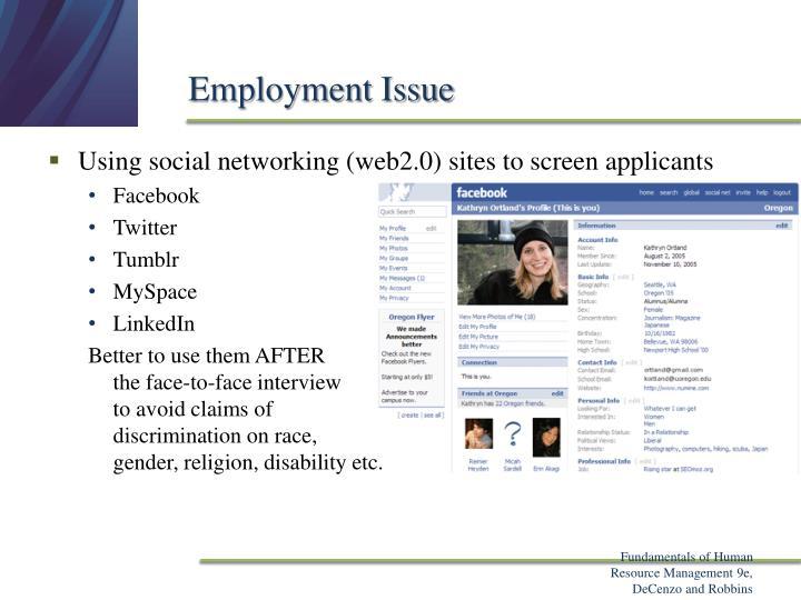 Employment Issue