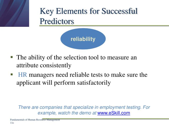 Key Elements for Successful Predictors