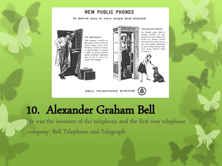 10.  Alexander Graham Bell