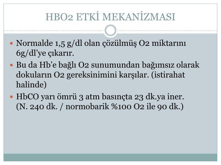 HBO2 ETKİ MEKANİZMASI