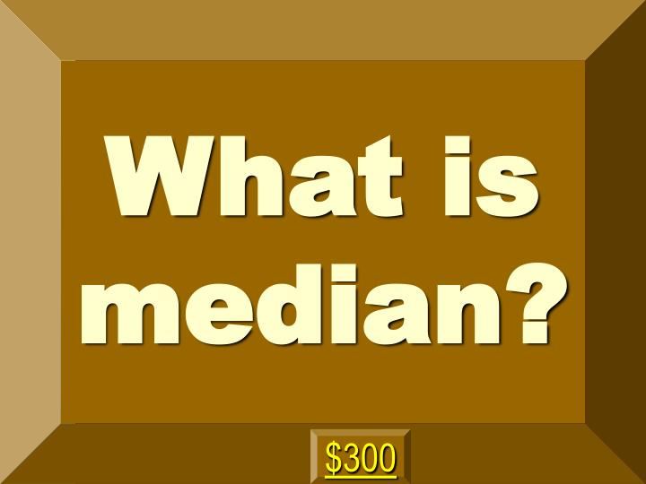 What is median?