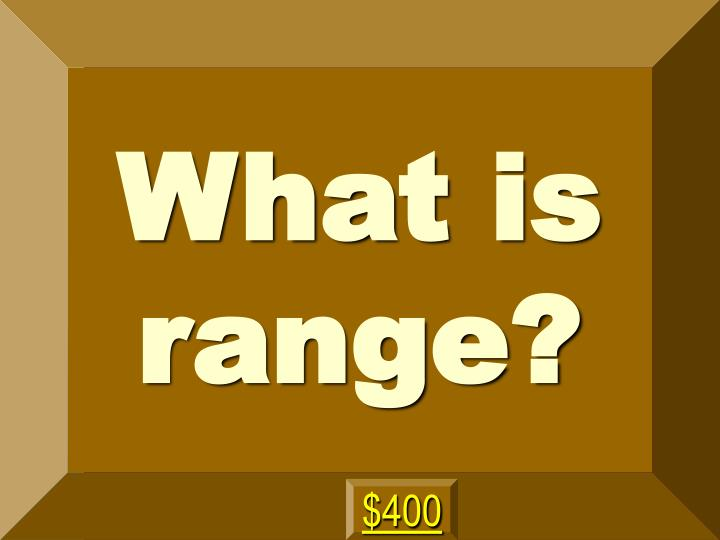 What is range?