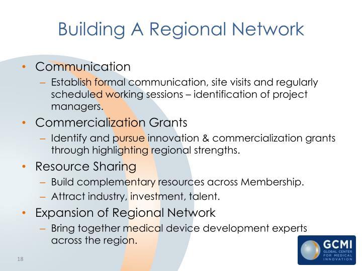 Building A Regional Network