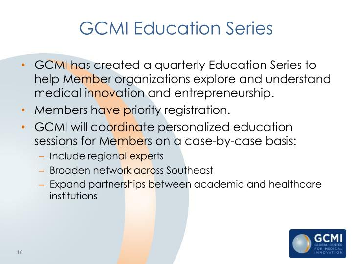 GCMI Education Series